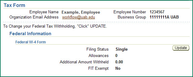 Uab Financial Affairs  Self Service Federal Online Tax Form
