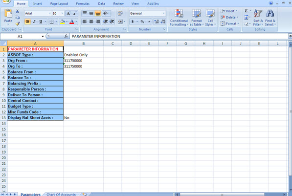Uab financial affairs gl reports excel chart of accounts tab 2 chart of accounts ccuart Choice Image