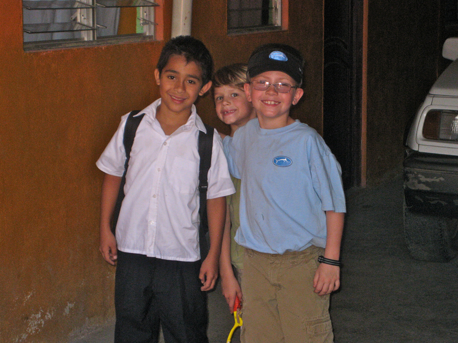 RLA participant kids with a local kid