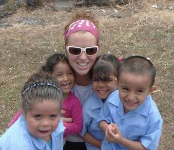 Leigh Ann Hall and kids in Costa Rica
